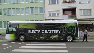 Environmentally Friendly Bus 100% electric  - Video