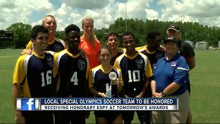 Local Special Olympics soccer team to be honored - Video