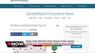 Study ranks Detroit's drivers as the best in the country - Video