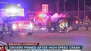 Two drivers recovering after overnight crash in midtown - Video