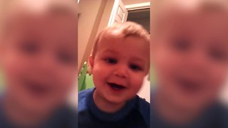 Toddler channels his inner werewolf - Video