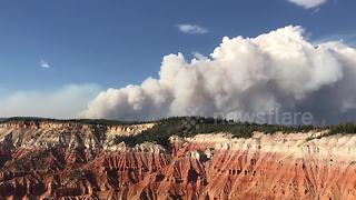 Hundreds forced to evacuate homes by Utah wildfire - Video