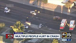 Two people in critical condition after Phoenix crash Wednesday