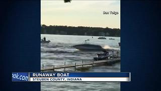 20-year-old woman arrested after boat spins out-of-control on Indiana lake - Video