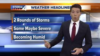 Josh Wurster's Wednesday morning Storm Team 4cast - Video