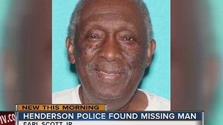 Missing man found early Sunday morning - Video