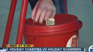 Holiday charities vs. Holiday scammers