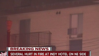 5 hospitalized after hotel fire, 40 evacuated - Video