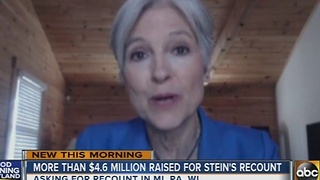 Green Party candidate Jill Stein raises more than $4.6 million for vote recount - Video