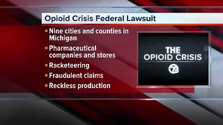 Nine metro Detroit cities, counties suing drugmakers for opioid epidemic - Video