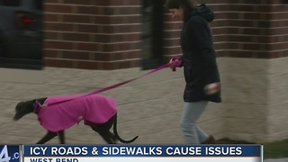 Icy roads, sidewalks cause issues across Washington County - Video
