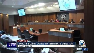 Fort Pierce Utilities Authority director fired - Video