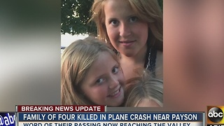 Plane crash in Payson claims the life of Scottsdale family - Video