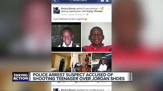 Police arrest suspect accused of shooting teenager over Jordan shoes - Video