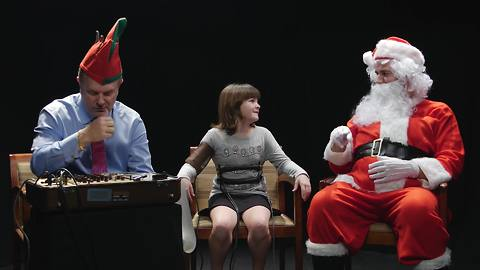 What happens when Santa hooks kids up to lie detectors?