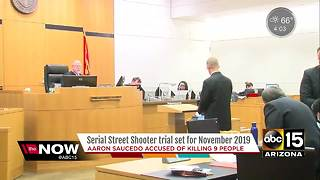 Trial date set for suspected serial street shooter
