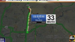 Loop 101 Pima NB delayed near 90th St for seven car crash Monday morning - Video