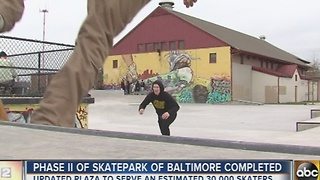 Phase II of Baltimore skate park complete - Video