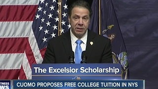 Cuomo announces new free college tuition initiative for middle-class households - Video