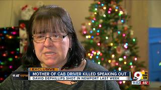 Mother of murdered taxi driver: 'He's not the bad guy' - Video