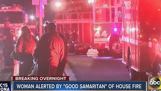 Good Samaritan helps rescue a woman from a house fire near 59th Ave and Osborn Rd - Video