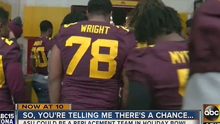 WHAT? The Arizona State Sun Devils could still be invited to a bowl game - Video