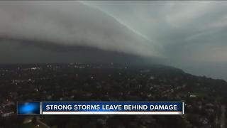 Strong storms in Campbellsport leave behind damage - Video