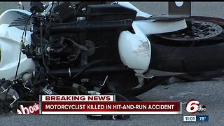 Motorcyclist killed in hit-and-run on Indy's northwest side - Video