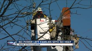 Power outage left hundreds without heat - Video