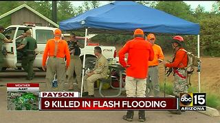 Officials continue search for missing man after Payson flash flood - Video