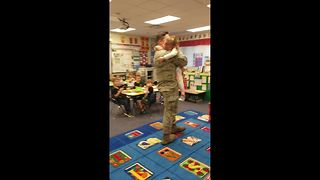 Military Father Surprises Daughter After A Year Abroad - Video