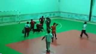 Football player injured after spectator throw object during game in Iran - Video