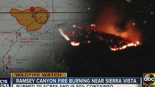 Fire continues to burn near Sierra Vista