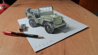 Drawing a 3D Jeep - Video
