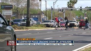 Clearwater police cracking down on jaywalkers - Video