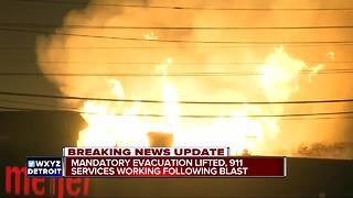 Evacuation lifted, 911 services working following blast - Video