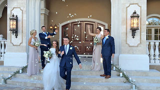Rose Petal Wedding Grand Exit at Casa Bella Estate - Video