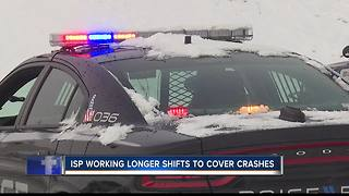 ISP says slow down drivers, roads are slick - Video
