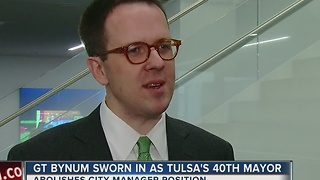 GT Bynum Sworn In As Tulsa's 40th Mayor - Video