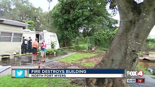 Historic North Ft. Myers building burns