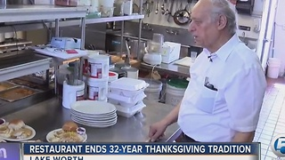 Lake Worth Thanksgiving tradition ends at Farmer Girl Restaurant - Video