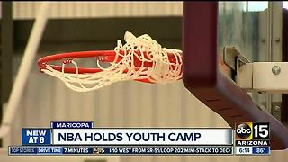 NBA helping Native American youth playing basketball - Video