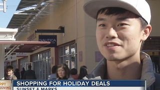 International tourists shopping in Las Vegas during holidays