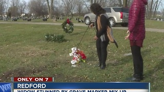 Grave marker mix up - Video