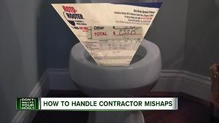 How to handle contractor mishaps - Video