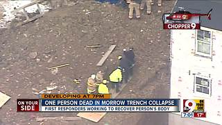 One person dead in trench collapse - Video