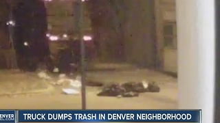 Residents stunned to see garbage truck dumping trash bags in Denver alley - Video