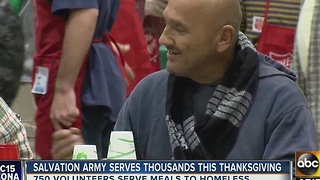 Almost 2k people helped out during Salvation Army Thanksgiving dinner - Video