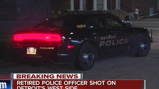 Retired Detroit police officer shot in Detroit - Video