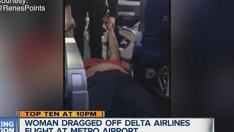 Woman dragged off Delta flight
